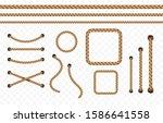 rope frame set isolated on...   Shutterstock .eps vector #1586641558