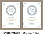 wedding invitation and save the ...   Shutterstock .eps vector #1586674468