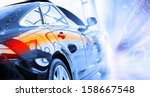 back view of automobile in... | Shutterstock . vector #158667548