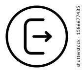 logout icon design. exit icon...
