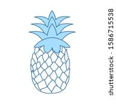 icon of pineapple in ui colors. ...