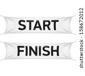 starting and finishing lines... | Shutterstock .eps vector #158672012