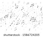 musical notes symbols flying... | Shutterstock .eps vector #1586724205