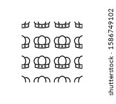 crown pattern vector logo... | Shutterstock .eps vector #1586749102