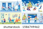 children winter christmas... | Shutterstock .eps vector #1586749462