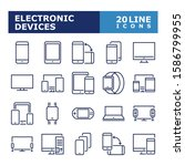 device icons. electronic... | Shutterstock .eps vector #1586799955
