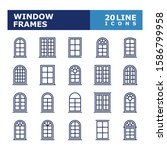 window icons. window frames... | Shutterstock .eps vector #1586799958