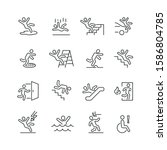 stick figure man related icons  ... | Shutterstock .eps vector #1586804785