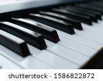 Close Up Of Piano Keyboard....