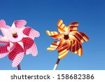 Colorful Toy Pinwheel Against...
