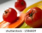 tomatoes on plates | Shutterstock . vector #1586839