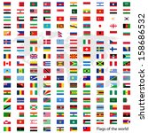 flags vector of the world and... | Shutterstock .eps vector #158686532