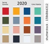 spring summer 2020 colors...   Shutterstock .eps vector #1586866312