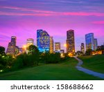 Houston Texas Modern Skyline A...
