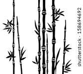 bamboo branches isolated on the ... | Shutterstock .eps vector #158694692