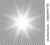 white glowing light burst... | Shutterstock .eps vector #1586949778
