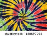 Close Up Shot Of Tie Dye Fabric ...