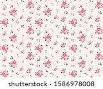 floral pattern. pretty flowers... | Shutterstock .eps vector #1586978008