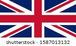 uk. union jack. flag of united... | Shutterstock . vector #1587013132