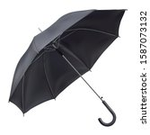 open rain umbrella in black... | Shutterstock .eps vector #1587073132