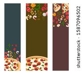 pizza banner or background... | Shutterstock .eps vector #1587096502