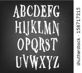spooky and magical alphabet set | Shutterstock .eps vector #158717315