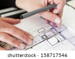 close up of an architects job | Shutterstock . vector #158717546