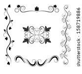 calligraphic pattern | Shutterstock . vector #158719886