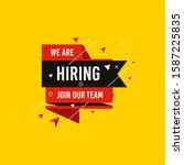 we are hiring  join now design... | Shutterstock .eps vector #1587225835