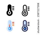 thermometer logo icon design in ...