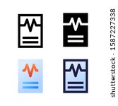 result logo icon design in four ...