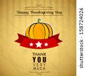 vintage happy thanks giving... | Shutterstock .eps vector #158724026