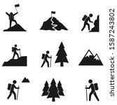 hiking icon set  illustration...   Shutterstock .eps vector #1587243802