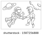 Astronaut Shaking Hand With...