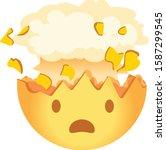 shocked emoji. exploding head...   Shutterstock .eps vector #1587299545