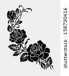 rose motif flower design... | Shutterstock .eps vector #158730416