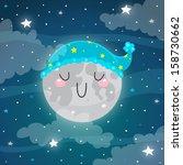 Sleeping Moon. Good Night.