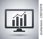 vector monitor with business... | Shutterstock .eps vector #158732978