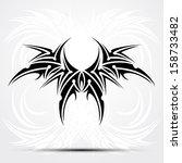 sharp tribal tattoo. vector... | Shutterstock .eps vector #158733482
