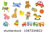 cute kids toys vector... | Shutterstock .eps vector #1587334822