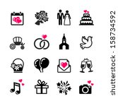 web icons set   wedding ... | Shutterstock .eps vector #158734592