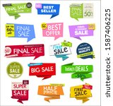 sale banner templates design... | Shutterstock . vector #1587406225