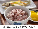 a dish of rice and fish of rice ...   Shutterstock . vector #1587415042