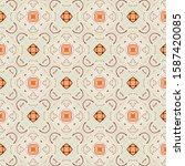 creamy geometric seamless... | Shutterstock . vector #1587420085