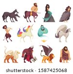 mythical magical creatures... | Shutterstock .eps vector #1587425068