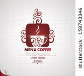 coffee menu. | Shutterstock .eps vector #158743346
