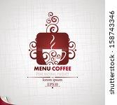 coffee menu.   Shutterstock .eps vector #158743346
