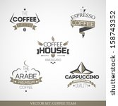 set of vintage coffee icons. | Shutterstock .eps vector #158743352