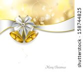 christmas background with... | Shutterstock .eps vector #158744825