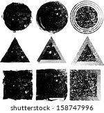 set of grunge shapes